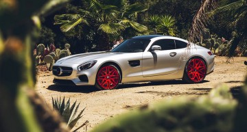 Mercedes-AMG GT S with candy red Forgiato wheels