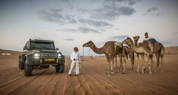 Storming up the desert in the Mercedes G63 AMG 6×6