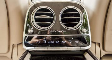 Thermotronic Automatic climate control for the rear seats is also standard in Mercedes-Maybach