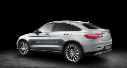 Production Mercedes-Benz GLC Coupe is here. New renders