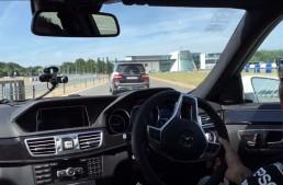 Mercedes-Benz E 63 AMG drifting guide with Lewis Hamilton