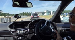 Mercedes-Benz E 63 AMG drifting guide with Lewis Hamilton