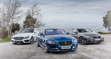 C-Class meets the Jaguar XE and 4 Series GC in CAR epic fight