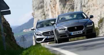 New faces in the mid-size segment: Jaguar XE versus C-Class