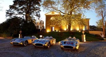 "Mercedes-Benz 300 SLR Rennsportwagen (W 196 S) beim Classic Insight ""Erfolgsgeschichten 1955"", 22. April 2015 in Italien"