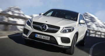 Hamilton advertises for the new Mercedes-Benz GLE Coupe
