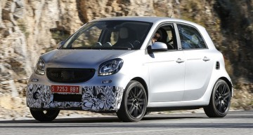 Spy shots of the upcoming smart Brabus Forfour