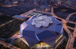 The Mercedes-Benz Stadium in Atlanta will host the 2019 Super Bowl