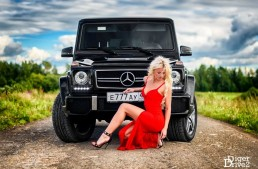 Russian model and a G63 AMG: The Beauty is taming the Beast