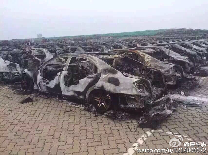 Brabus-tuned S-Class cars destroyed in the Tianjin explosions