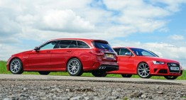 Mercedes-AMG C 63 T-Modell meets its Audi RS4 Avant nemesis