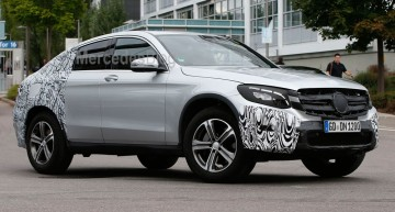 See the 2016 Mercedes-Benz GLC Coupe in motion (spy video)