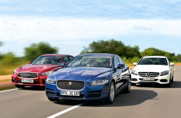 Mercedes-Benz C-Class meets the unusual suspects, Infiniti Q50 & Jaguar XE