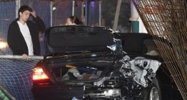 Drink and drive and lucky to be alive. Teenager crashes daddy's Mercedes