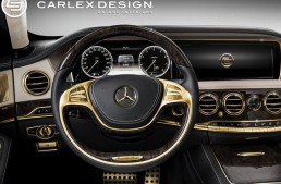 Sitting on a gold mine – the 24k gold trimmed Mercedes S63 AMG