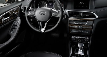 All-new Infiniti Q30 abuses Mercedes interior parts bin