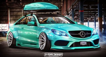 Rendered tuning – The Mercedes-Benz E-Class Coupe by X-Tomi Design
