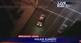 Police pursuit: stolen Mercedes chased for hours in Los Angeles