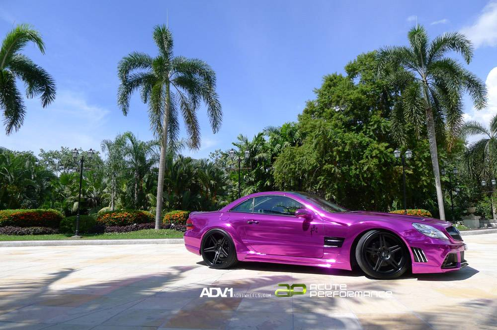 The SL 65 AMG Black Series gone crazily purple