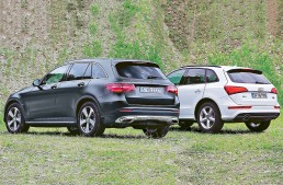 New Mercedes-Benz GLC meets old Audi Q5 in AutoBild test