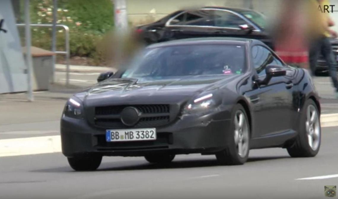 2016 Mercedes SLC gets a facelift, poses for spy video
