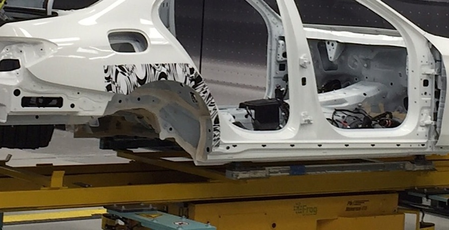2017 Mercedes E-Class shows its design as body in white
