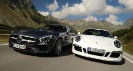 Alles über. Mercedes-AMG GT versus Porsche 911 GTS