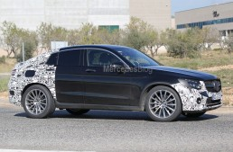 2017 Mercedes GLC Coupe spied in AMG Line guise
