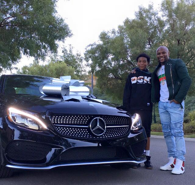 Floyd Mayweather gives son a Mercedes-Benz C-Class Coupe