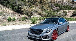Forged in fire – the Mercedes-Benz S550 puts on Forgiato red wheels