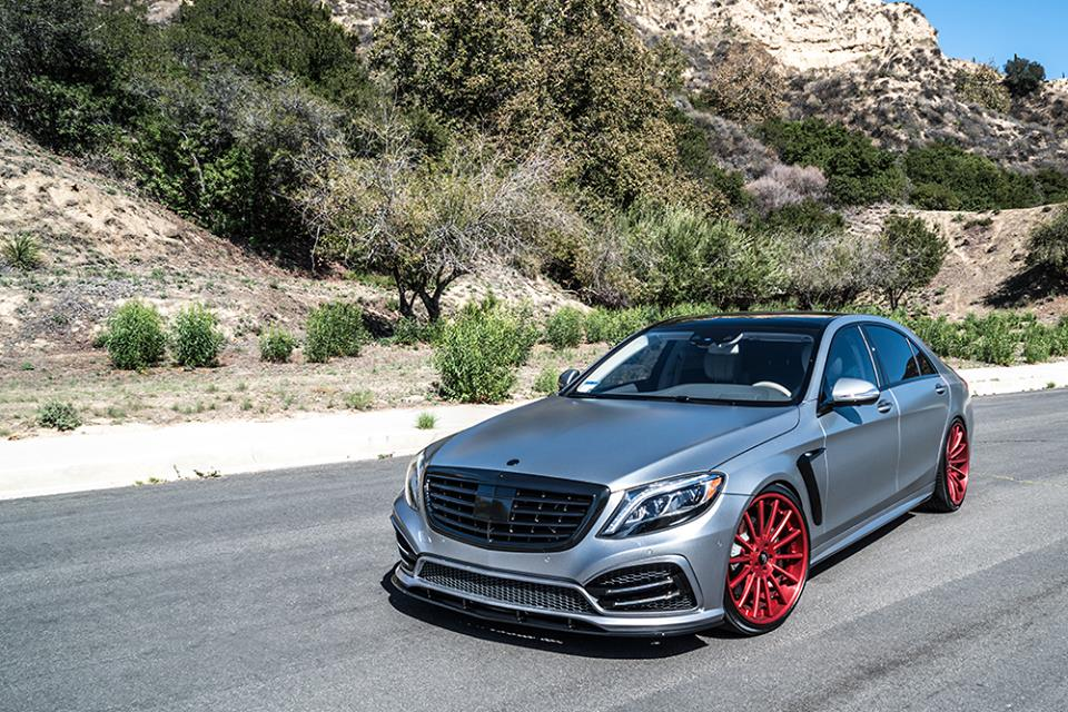 Forged In Fire The Mercedes Benz S550 Puts On Forgiato Red Wheels