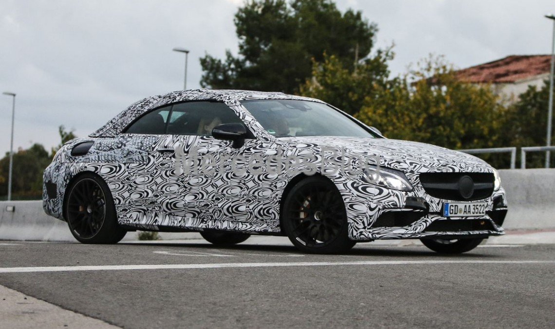 Mercedes-AMG C 63 Cabrio shows its face for the first time