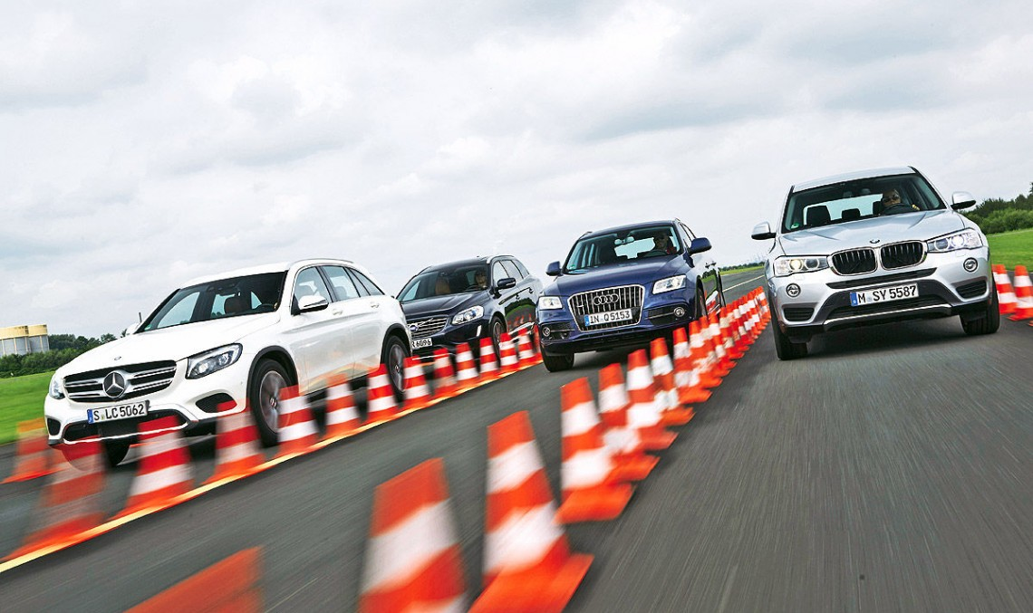 Comparison test Mercedes-Benz GLC vs Audi Q5, BMW X3, Volvo XC60