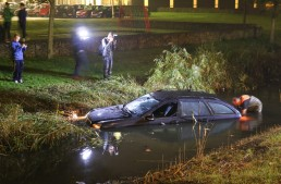 """""""Help, my car is drowning!"""" – Dutch driver takes his Mercedes into the swamp"""