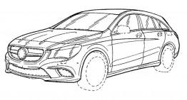 Patent photos reveal the 2017 Mercedes-Benz CLA Shooting Brake