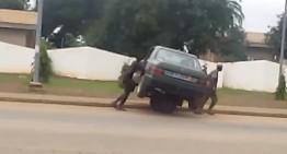 When the tow truck fails to show up, get a wheelbarrow
