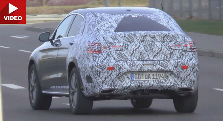2017 Mercedes-Benz GLC Coupe comes to light in new spy video