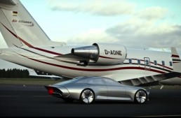 The Mercedes-Benz IAA Concept racing an airplane? Watch it in action!