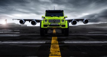 Extraterrestrial: the Mercedes-Benz G 500 4×4² and the Airbus A 380 in super photoshoot