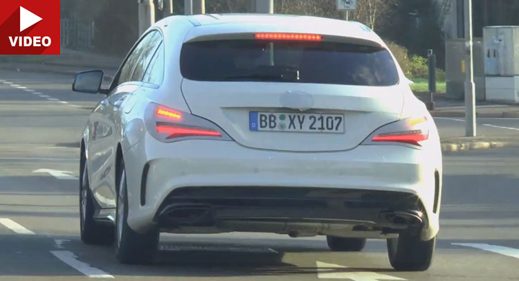 Mercedes CLA Shooting Brake facelift comes out to play again