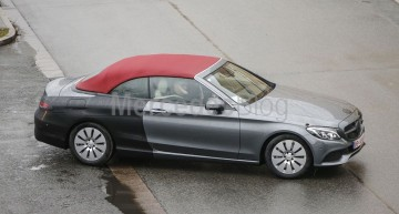 2017 Mercedes C-Class Cabrio caught testing with almost no camouflage