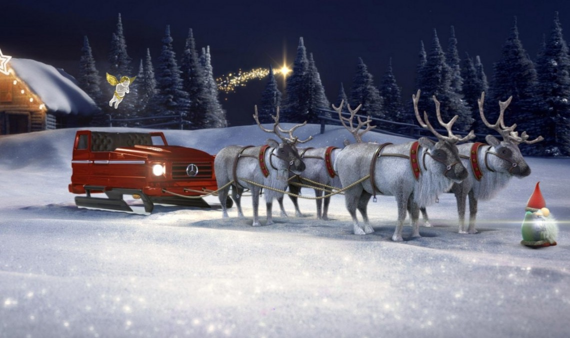 Merry Christmas! Santa's sleigh is a Mercedes and you can configure it too