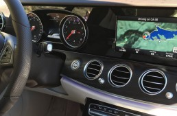 2017 Mercedes E-Class and its analog dials. Not a sight to behold