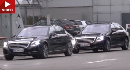 2017 Mercedes S-Class facelift comes out to play on video