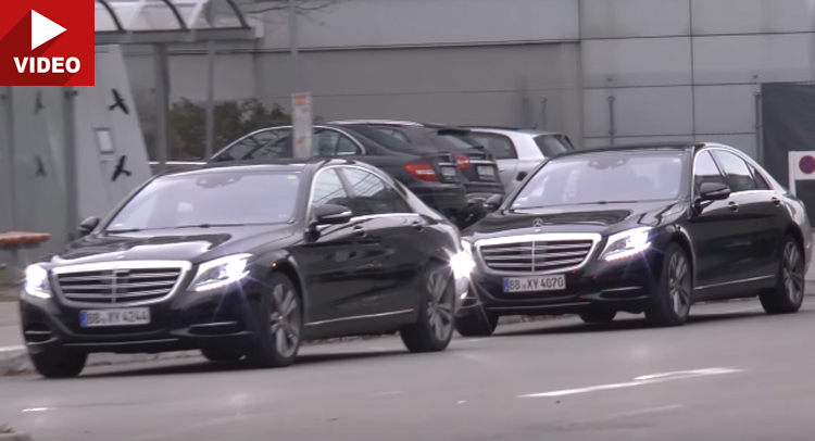 See the Mercedes S-Class facelift in motion. SPY VIDEO