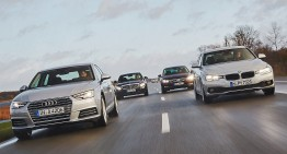 Turbo battle: New Audi A4 versus BMW 3er, Mercedes C-Class, VW Passat