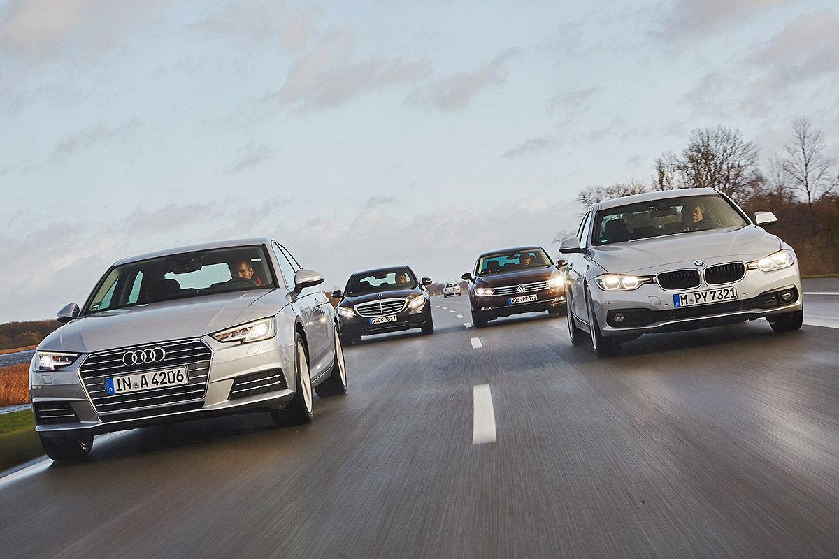 Turbo Battle New Audi A4 Versus Bmw 3er Mercedes C Class Vw