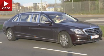 Hit the road Pullman. Mercedes-Maybach limo filmed testing