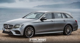 2017 Mercedes-Benz E-Class T-Modell shows up in digital renders