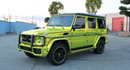 The Mercedes G63 AMG goes green
